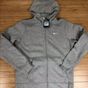 Nike Mens Club Swoosh Full Zip Up Hoodie Size M